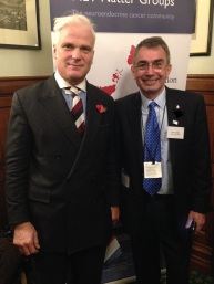 Ronny Allan (right) meeting the Rt Hon Desmond Swayne TD MP in the UK Parliament
