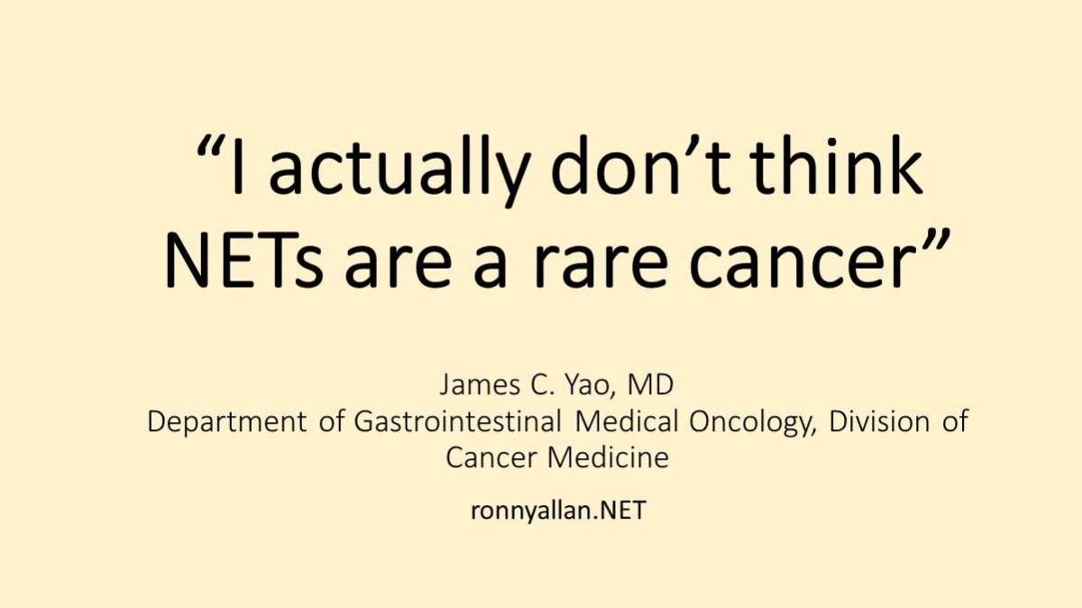 Neuroendocrine Cancer - not as rare as you think