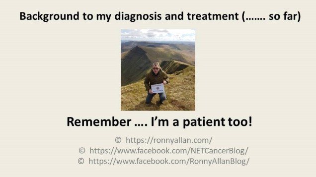 Backrgound to my diagnosis and treatment